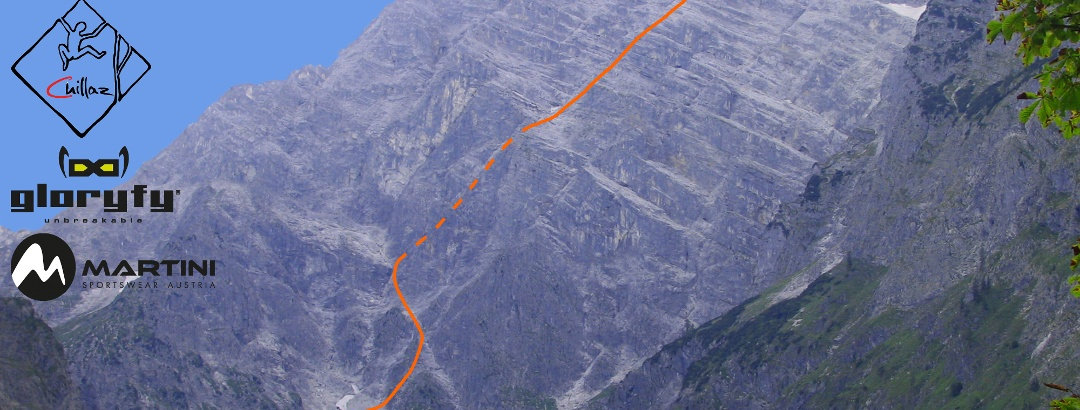 Watzmann Ostwand - Berchtesgadener Weg - Route in Foto