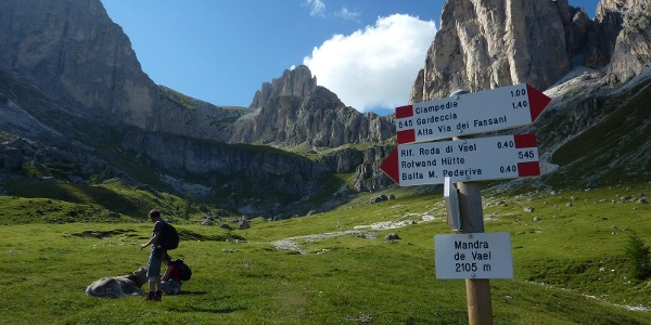 Rifugio Roda di Vael - dal Ciampedie