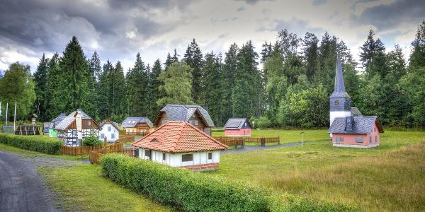 Miniaturnachbau - Technisches Denkmal - Historischer Schieferbergbau - Lehesten