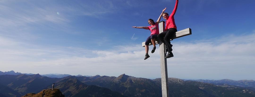 Am Gipfel der Walser Hammerspitze
