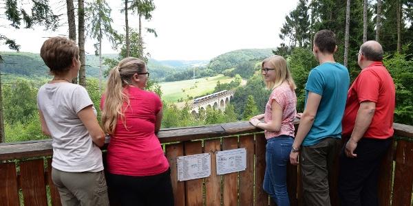Blick von der Aussichtsplattform auf den Duneviadukt