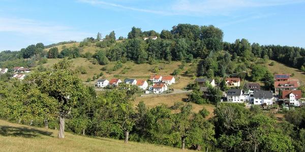 Blick auf das Neubaugebiet Unterer Senzenbach und auf die Obere Roßstaig