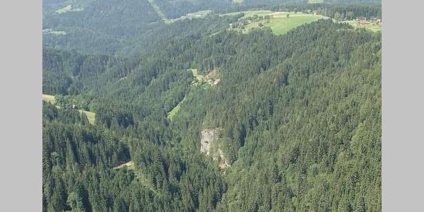 Blick in den Teigitschgraben