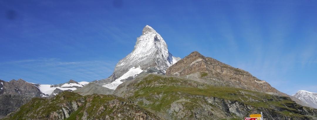 Blick von Zermatt auf das Matterhorn