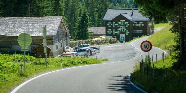 Ausgangspunkt Parkplatz beim Gasthof Bädle