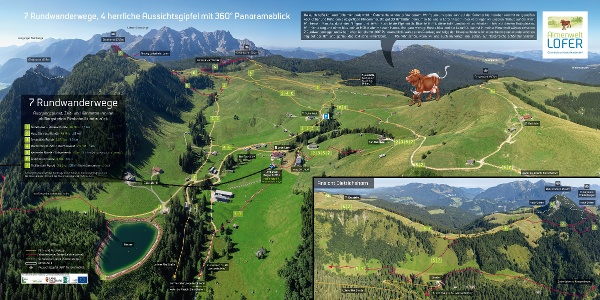 Panorama Almenwelt Lofer