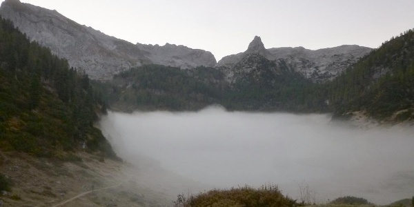 Funtensee im Nebel bei minus 5 Grad