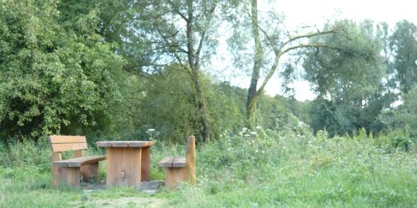 Rastplatz im Naturschutzgebiet Hinterer See