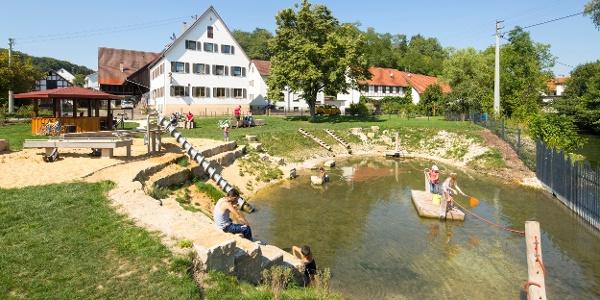 Wasserspielplatz in Bergenweiler