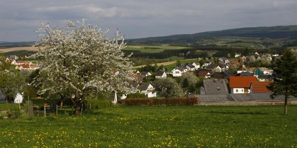Schillingen, eingebettet in die Hügel der Hunsrücker Mittelgebirgslandschaft