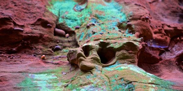 Wabbenbildungen im Buntsandsteinfelsen