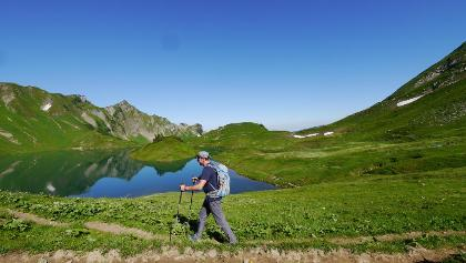"Hiking at ""Schrecksee"""