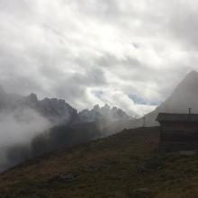 Matschun, Abstieg ins Garneratal