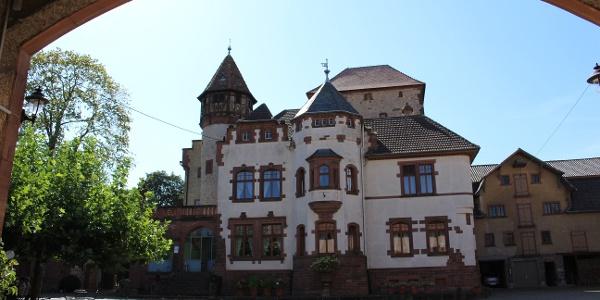 Das Schloss Wachenheim (14. Jhd.) - heute Schlossgut Lüll