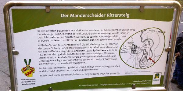 Infotafel Rittersteig