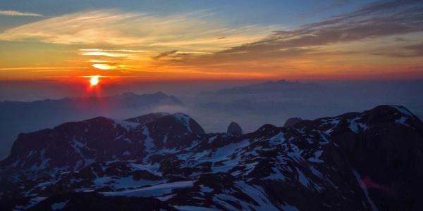 Sonnenaufgang am Hochkönig