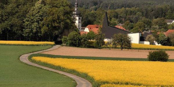 Blick auf die Alsenborner Kirchen