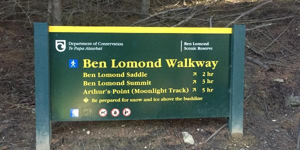 Start Ben Lomond track