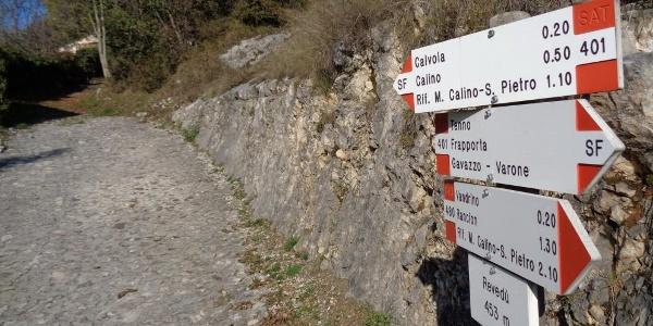 Segnavia per Rifugio San Pietro