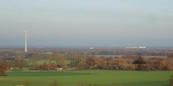 Aussichtsplattform am Sender: Blick Richtung Teutoburger