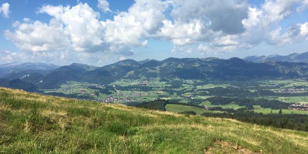 Ausblick über die Allgäuer Bergwelt