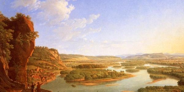 Unser Traum - Gemälde von Peter Birmann 1819 Blick vom Isteiner Klotz rheinaufwärts
