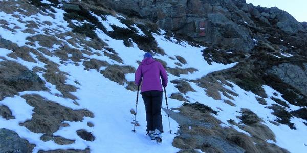 steile Flanke über der Hütte