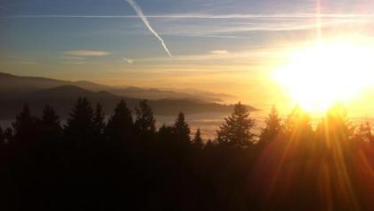 Winter sunset ride