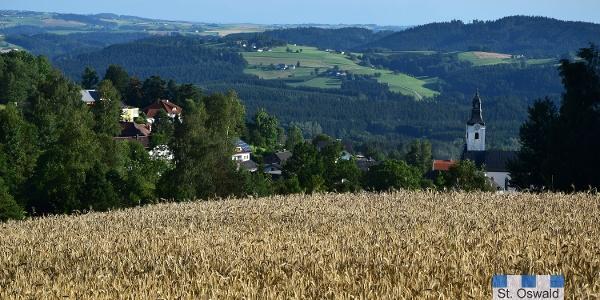 Blick vom Zollhaus nach St. Oswald bei Haslach