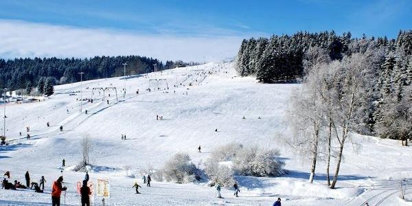 Loipenstart beim Skilift