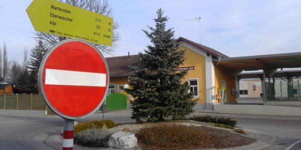 Wir starten am Bahnhof Krottendorf-Ligist