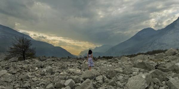 A lunar valley
