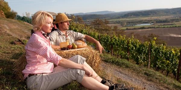 Eine Pause in den Weinterrassen