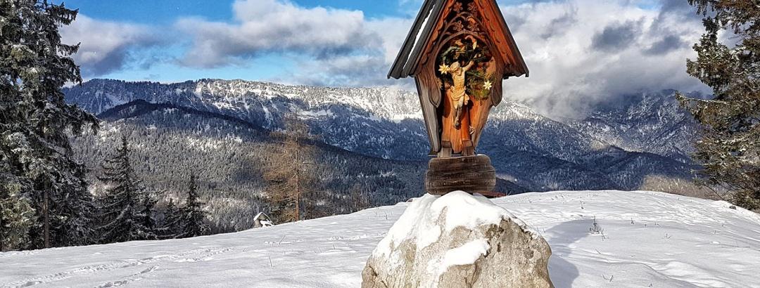 Das Gipfelkreuz auf dem Götschenkopf