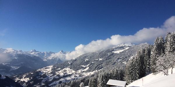 Ausblick von der Schneeschuhroute