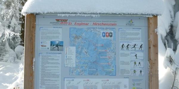 Tafel NordicaktivZentrum St. Englmar-Hirschenstein