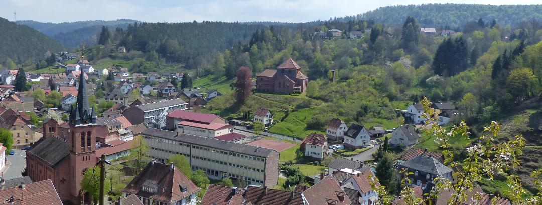 Blick vom Rundweg 6 auf Elmstein