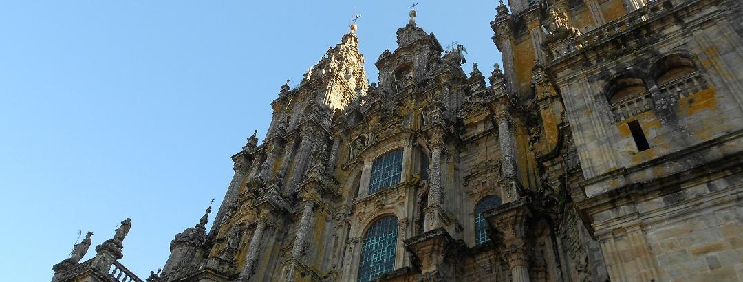 Fachada del sur de la catedral de Santiago de Compostela