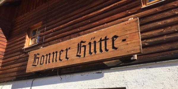 Schriftzug Bonner Hütte