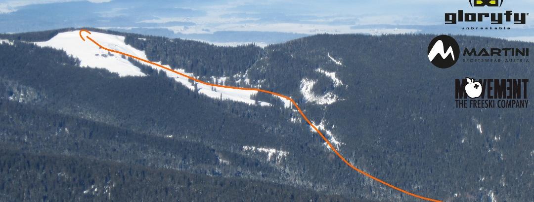 Stoißer Alm Skitour auf den Teisenberg - Übersichtsbild - Topo