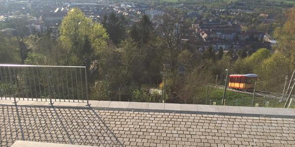 Aussicht auf Durlach und Karlsruhe vom Turmberg