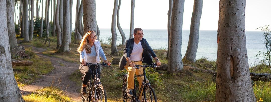 Radfahren mit Ostseeblick