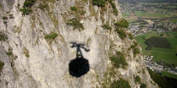 Untersberg. Talwärts mit der Seilbahn