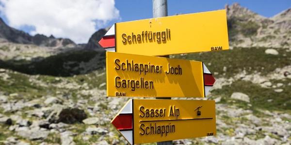 Wegweiser in der Schweiz
