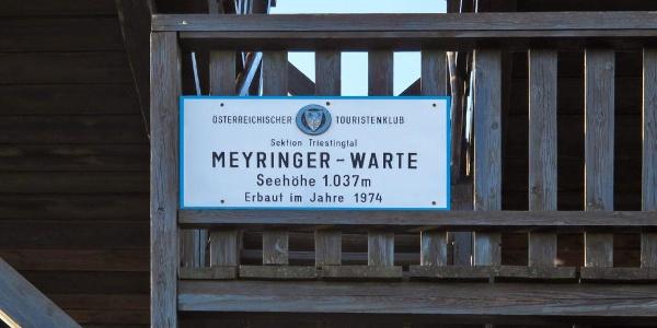Meyringer-Warte des ÖTK hinter dem Schutzhaus am Hocheck