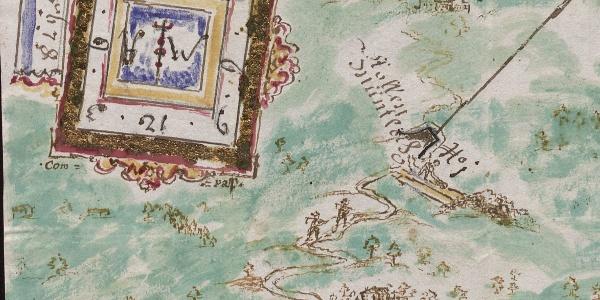 Bartholomäberger Aquarell 1745 Ausschnitt Vlbg. Landesarchiv
