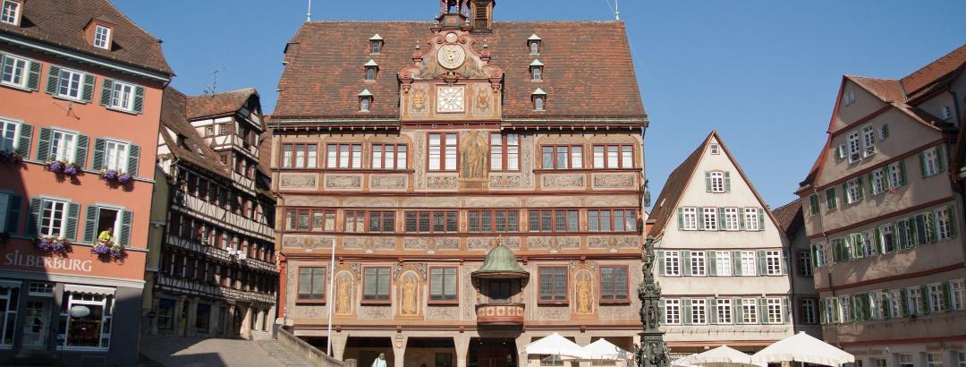 Das Rathaus von Tübingen