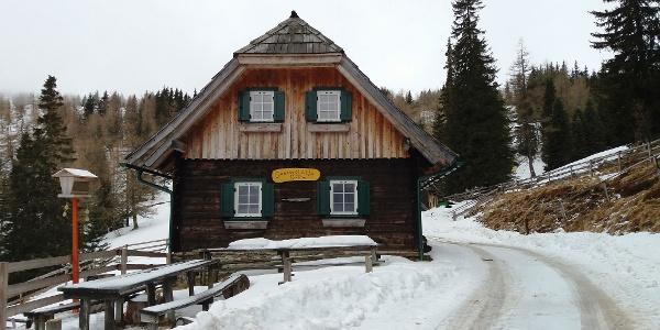 Saureishütte im Winter