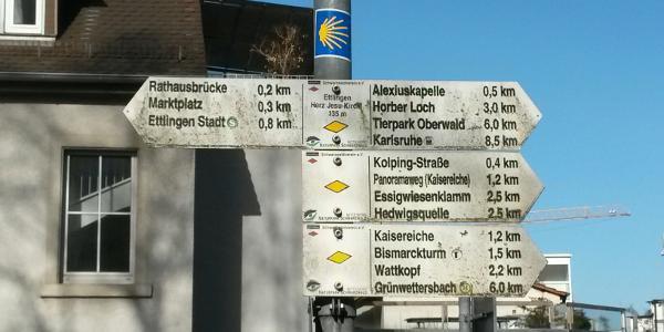 Start bei der Herz-Jesu-Kirche, Ettlingen.