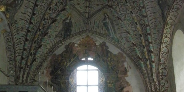 Interiör Enångers gamla kyrka